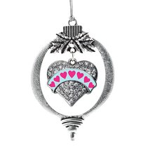Inspired Silver Blue Candy Pave Heart Holiday Ornament - $14.69