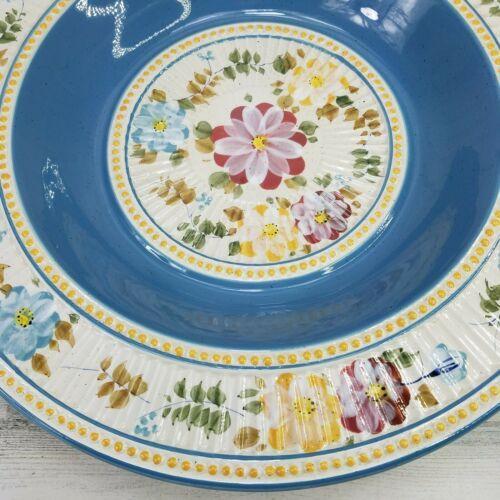 "TableTops Unlimited Villa Flora Large 19.25"" Pasta Serving Bowl RARE HTF - $58.19"