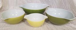 Vintage Pyrex Verde Cinderella Nesting Bowls (Set Of 4) - $90.00