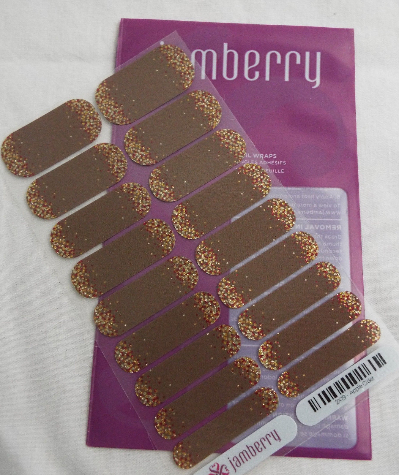 Primary image for Jamberry Apple Cider 0917 2X19 Nail Wrap Full Sheet