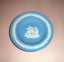 "Wedgwood Blue Jasperware Small Trinket Dish Collector Plate 4.5"" England... - $14.99"