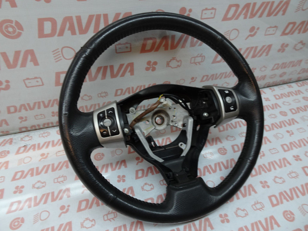 Primary image for TOYOTA URBAN CRUISER 2009 3 SPOKE BLACK LEATHER MULTI FUNCTION STEERING WHEEL