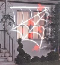 Gemmy LED Lightshow Projection Whirl-a-Motion + Static White Web Orange ... - $8.48
