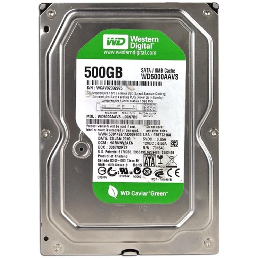 Hard Drive 500GB Western Digital Caviar Green WD5000AADS
