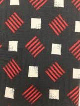 Men's Silk Tie Fratelli Moda 59L Black Red White Geo Block Necktie  Repeat Italy - $13.18