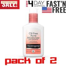 2 pack Neutrogena Oil Free Acne Facial Moisturizer with Salicylic Acid A... - $17.72