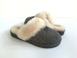 UGG COZY KNIT CHARCOAL GREY SHEARLING LINED SLIP ON SLIPPERS US 6 / EU 3... - $101.92