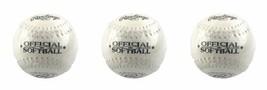 "(3) Rawlings Official White Softball SB3 Lot 12"" Inch Cork  New - $18.49"