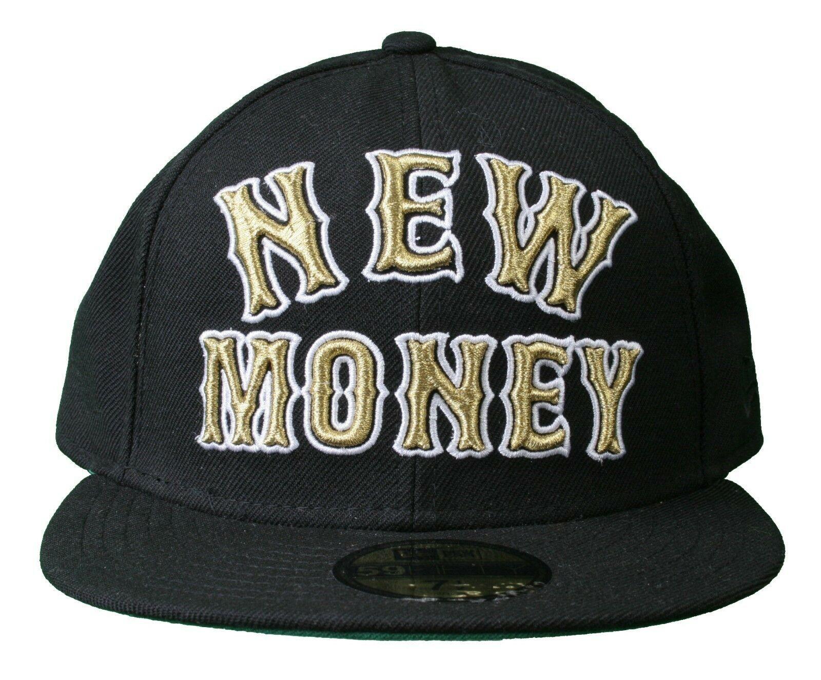 Rocksmith Team New Money 59FIFTY new Era Black Fitted Baseball Hat Cap