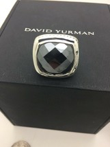 David Yurman 925 20 mm Hematite Albion Ring Sz 6.5 - $462.48