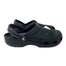 Crocs Men's 10 Bogota Clog Black Green Leather 11038 060 - $58.19