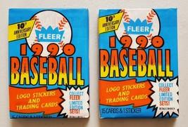 1990 Fleer Baseball Lot of 2 (Two) Unopened Sealed Packs Ken Griffey Jr - $9.19