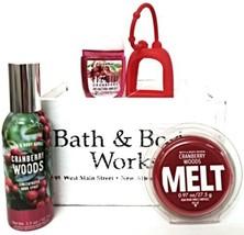 Bath and Body Works Cranberry Woods Wax Melt, Room Spray, Pocketbac & Ho... - $22.56