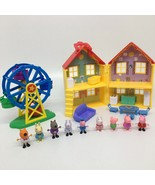 Peppa Pig House And Ferris Wheel + Figures- Incomplete Sets - $42.06