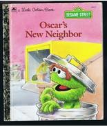 ORIGINAL Vintage 1992 Sesame Street Oscar's New Neighbor Golden Book  - $9.49