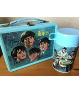 The Beatles Signatures Metal Lunch Box with Thermos New Lunchbox Limited... - $65.00