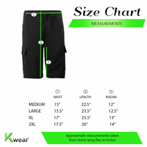 Men's Adjustable Drawstring Casual Cotton Blend Multi Pocket Soft Cargo Shorts image 2