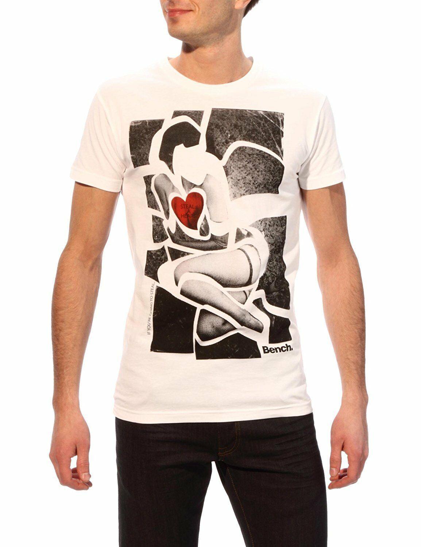 Bench Betty Urban Streetwear Men's White Graphic T-Shirt NWT