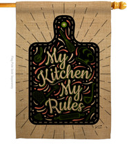 My Kitchen Rules - Impressions Decorative House Flag H137273-BO - $40.97