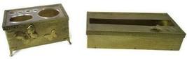 Vintage Gold Toned Metal Tissue Kleenex Box Cover Holder & Makeup Organizer - $29.69