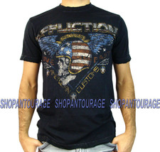 Affliction Highway Stranger A11924 New Men`s ACMS Skull Graphic Black T-... - $34.97