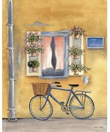 French Bicycle I by Katharine Gracey Window Flowers Canvas Giclee Print ... - $246.51