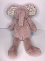 "Manhattan Toy Pink Elephant Blue Dots Ears 12"" Stuffed Animal Plush - $29.02"