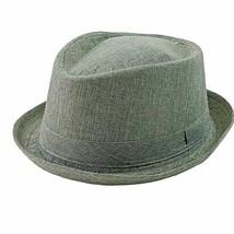 Henschel Hat Co Mens Boys Youth Size Large Fedora Gray Herringbone Walki... - $12.86