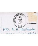 Italy Postcard Anzio Army Air Force Postal Service APO 227 1954 - $4.74