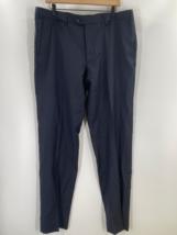 Emporio Armani Mens Black Solid Straight Dress Pants Pockets Size 56 - $45.07