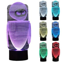 ZLTFashion 3D Visual Optical Illusion Colorful LED Table Lamp Touch Cool Design