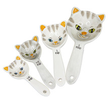 Pacific Giftware Loveable Kittens Cat Ceramic Measuring Spoons Set of 4 - $10.88