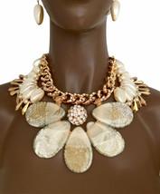Kristalle Kunstperlen & Acryl Übergröße Cleopatra Statement Halskette Dr... - $78.99