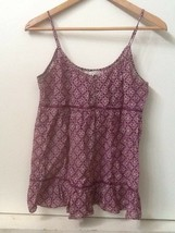 American Eagle Outfitters Purple Floral Print Cami Tank Top Size 4 - $14.95
