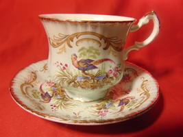 """3"""" Footed Cup & Saucer, from Paragon, in the Antique Series, Swansea Pattern - $13.99"""