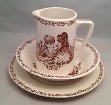 Alfred Meakin Creamer Bowl Plate Children Playing in Meadow - $18.57
