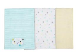Gerber Newborn Baby Neutral Assorted Knit Burpcloths, 3pcs Cloud - $12.99