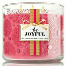 NEW Bath & Body Works BE JOYFUL 3 Wick 14.5 oz Jar Candle Signature Coll... - $25.00