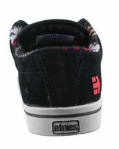 Etnies Hommes Noir/ Fauve / Rouge Cuir Daim Jameson 2 Basse Skateboard Shoes NW image 3