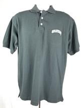Michigan State Spartans NCAA Steve & Barry's Golf Polo Shirt M Black Cotton - $14.84