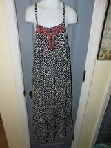 Justice Black & White Tribal Print Maxi Dress Size 8 Girl's EUC - $21.84