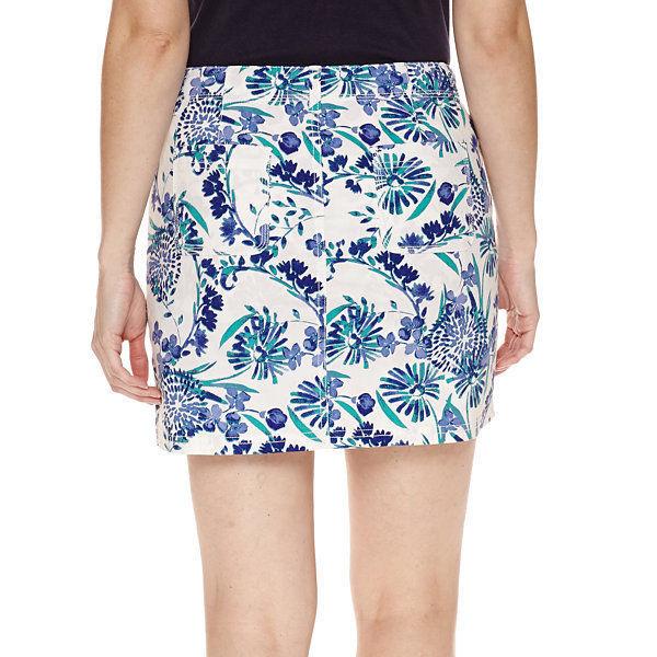 St. John's Bay Floral Cotton Blend Skorts Floral 2P, 4, 6, 8, 10, 12, 14, 16