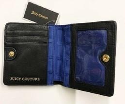 JUICY COUTURE Mini Bi-fold Soft Leather  Wallet, Black, NWT, $79 - $19.79