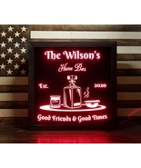 Custom Whiskey LED Sign Personalized, Home bar pub Sign, Lighted Sign - £47.10 GBP
