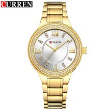 NEW Women's Fashion Watches Curren Luxury Gold Stainless Steel Quartz Watch Ladi - $34.82