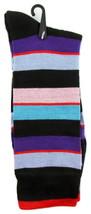 Goldstar Mens Striped Socks Casual Fun Color Combo 4 Cotton Blend Crew Sock - $12.95