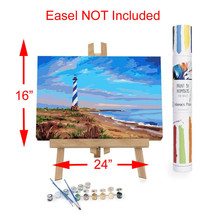 """Adult Paint By Numbers Acrylic Set Evening at Cape Hatteras 16x24"""" Winni... - $37.62"""