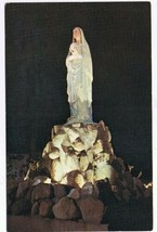 New Hampshire Postcard Enfield Shrine of Our Lady of Salette Rosary Pond... - $2.84
