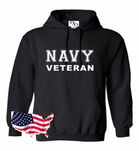 Navy Hoodie VETERAN USAF Air Force US Army Marines USMC Military PT T-shirt - $23.95+