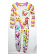 Shopkins 1-Pc. Polaire Dormir Pyjama L 10/12 Arc-En-Ciel Souple - $16.76